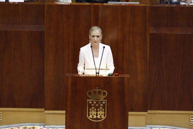Cristina Cifuentes, pleno de investidura de la Comunidad de Madrid