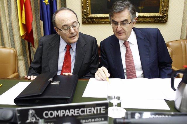 Luis María Linde y Ovidio Sánchez