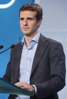 Pablo Casado, tras el Comité de Dirección