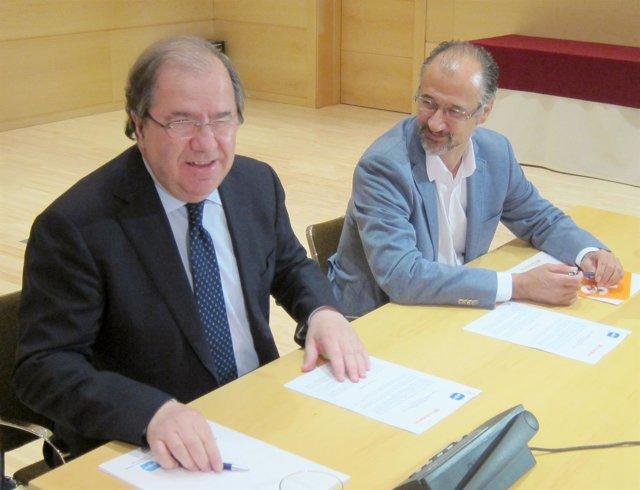 Juan Vicente Herrera junto al delegado de C's en CyL, Luis Fuentes
