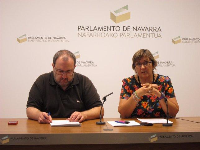 José Miguel Nuin y Marisa de Simón.