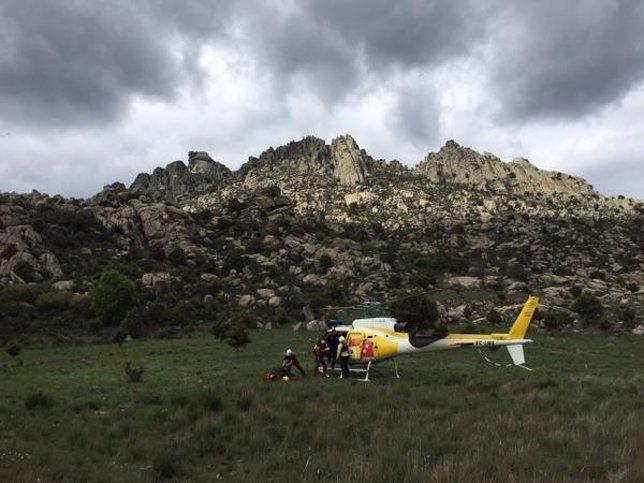 Rescate de los montañeros por el GERA