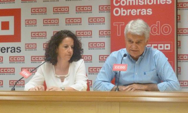 José Luis Gil y Raquel Payo, CCOO