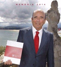 Portada de la Memoria en recuerdo a Emilio Botín