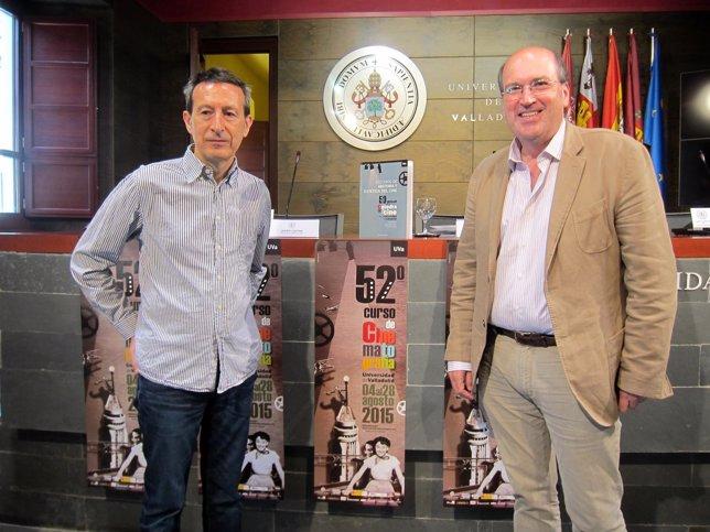Javier Castán (izda) y José Ramón González, en la presentación del curso.