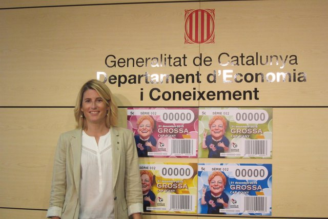 Elsa Artadi y los nuevos billetes de La Grossa de Cap d'Any