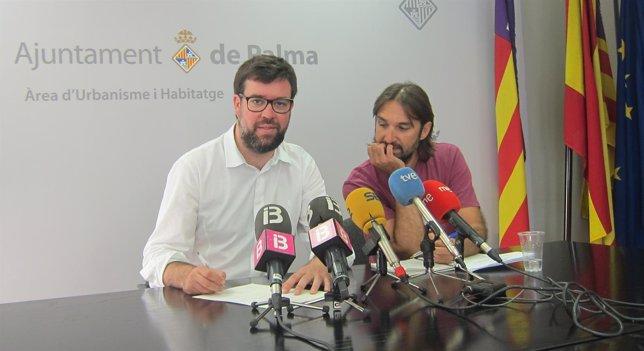A. Noguera y E. Montes en rueda de prensa en la Gerencia de Urbanismo