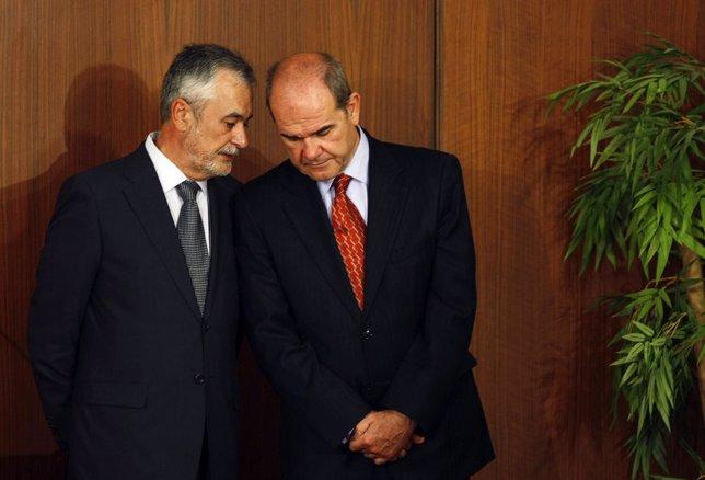 José Antonio Grinán y Manuel Chaves