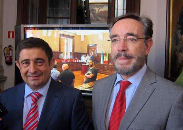 Felipe López (d), junto a Francisco Reyes.