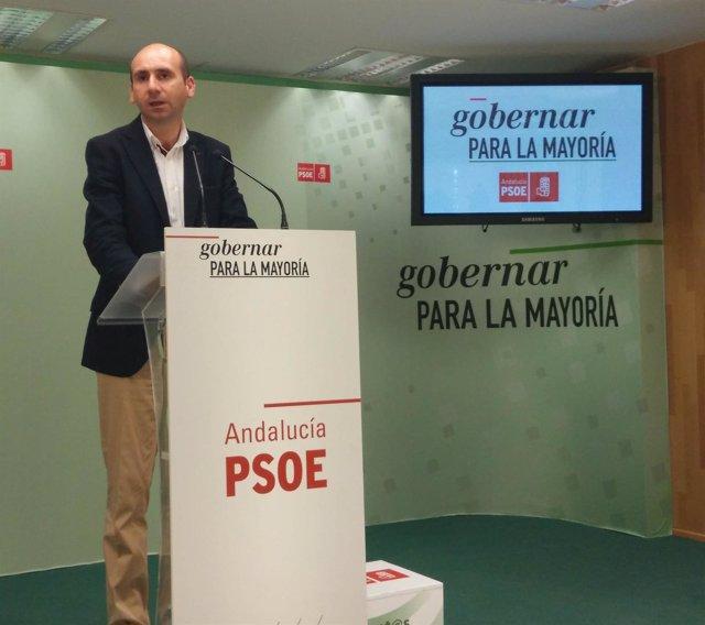 El secretario regional de Politica Institucional del PSOE-A Francisco Conejo