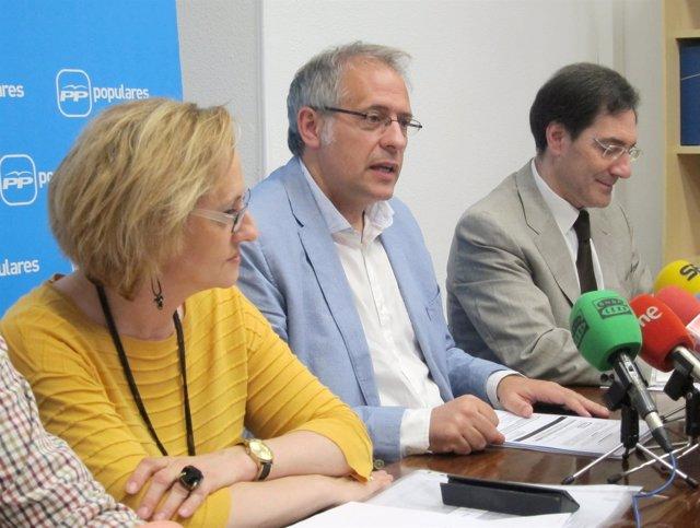 Rosa Hernández, Antonio Bermejo y Jesús Enríquez