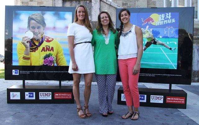 Mireia Belmonte, Ana Muñoz y Carolina Marín