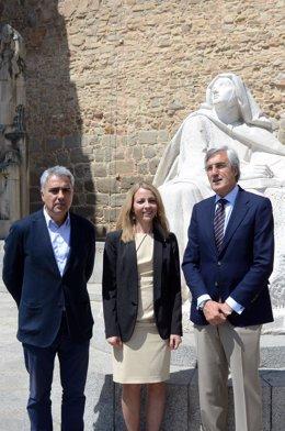 De Izq. A Drcha Juan Carlos Prieto, Diana Caminero, José Luis Rivas.