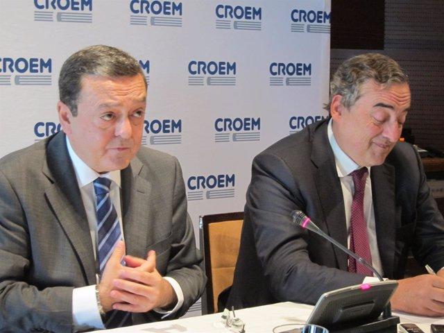Albarracín y Rosell, en la rueda de prensa previa a la Asamblea
