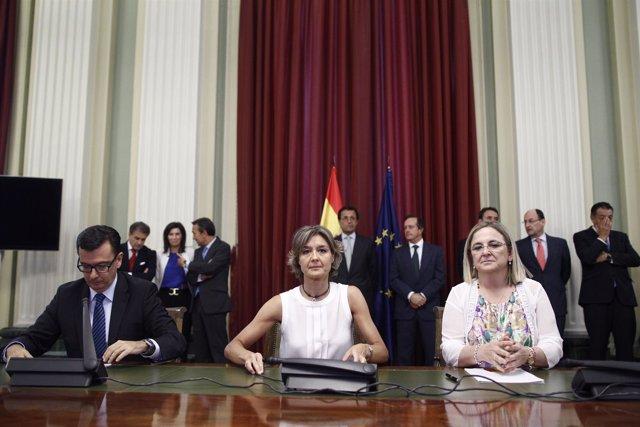 Isabel García tejerina preside la firma del convenio de colaboración del BEI
