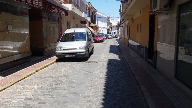 Una calle de Lora del Río