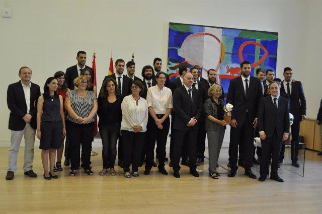 Visita del Real Madrid al Ayuntamiento