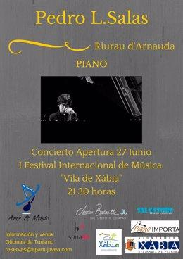 Cartel anunciador del I Festival de Música Internacional Vila de Xàbia