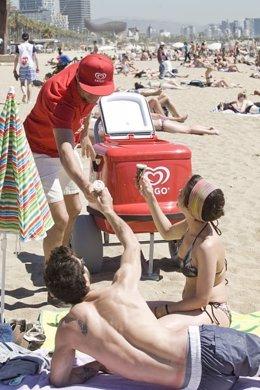Campaña 'Soy Frigo' Playa, helados, verano, calor, vacaciones.