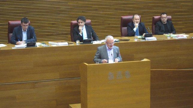 Montiel, de Podemos, en el pleno de investidura.