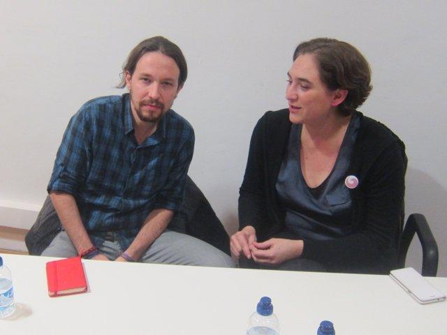 Pablo Iglesias y Ada Colau en una imagen de archivo