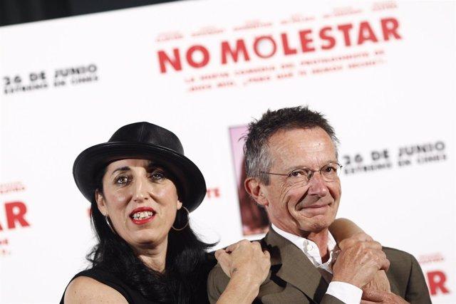 Rossy de Palma y Patrice Leconte en la presentación de la película No molestar