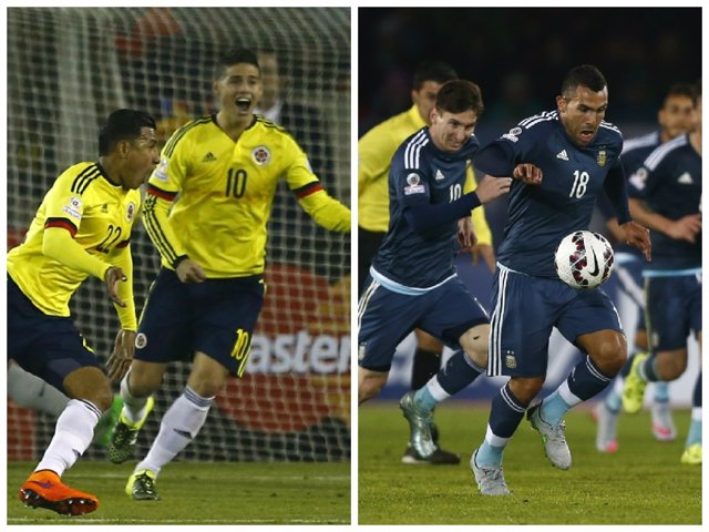 Argentina y Colombia chocan en un duelo de astros en los cuartos