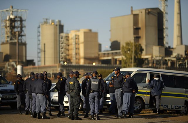 Policía sudafricana