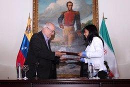 Firma del acuerdo marco entre Irán y Venezuela