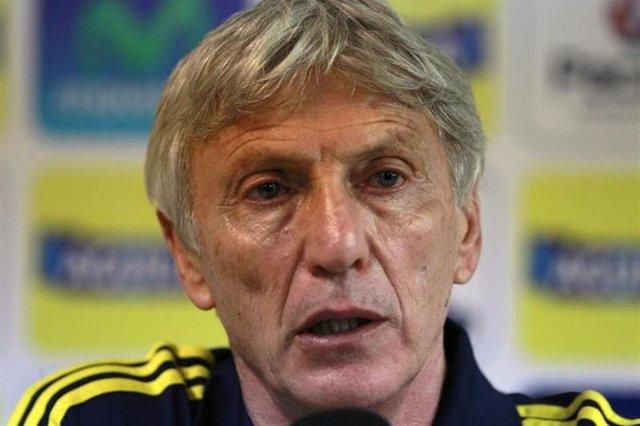 El director técnico de la selección de fútbol de Colombia, José Pekerman