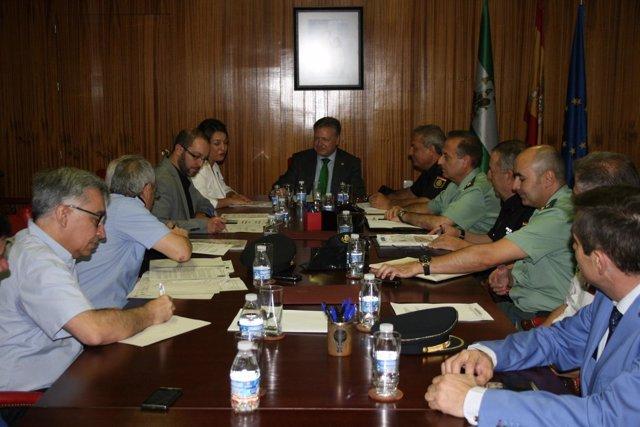 Junta de seguridad para la Magna Mariana en Córdoba