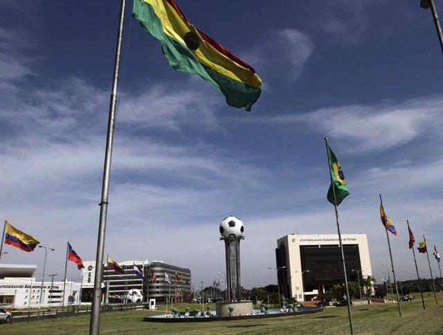 Sede de la CONMEBOL en Paraguay