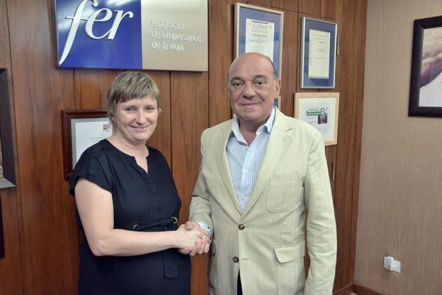 García-Calzada y Maslanka, tras firmar el convenio