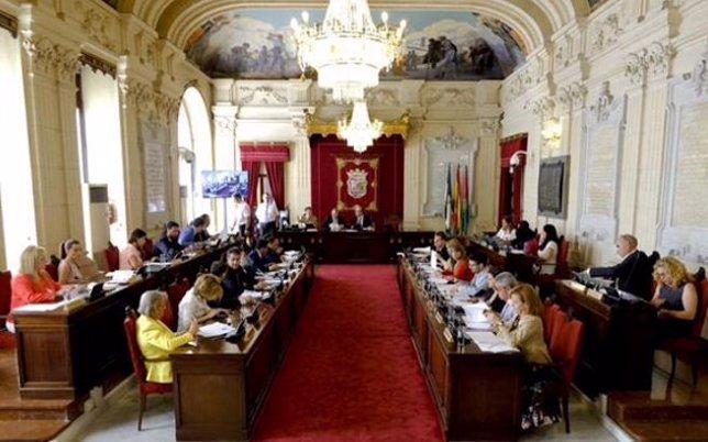 Pleno del Ayuntamiento de Málaga organización junio 2015