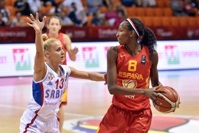 Astou Ndour, Serbia vs España