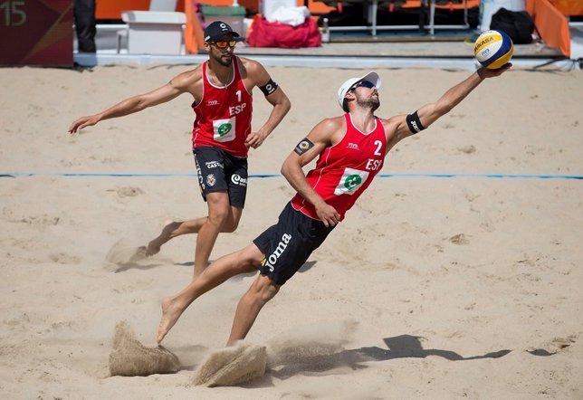 Herrera y Gavira en el Mundial de voley playa en Holanda
