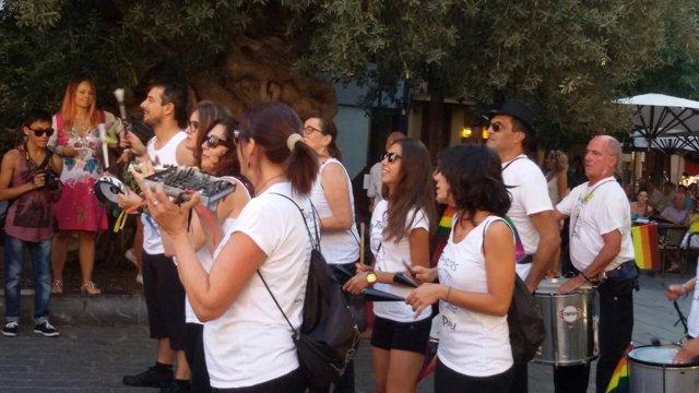 El portavoz del gobierno del Ayuntamiento, en la manifestación LGTB en Cort