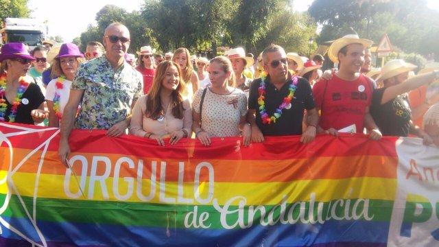 Verónica Pérez en la marcha del Día del Orgullo Lgtbi