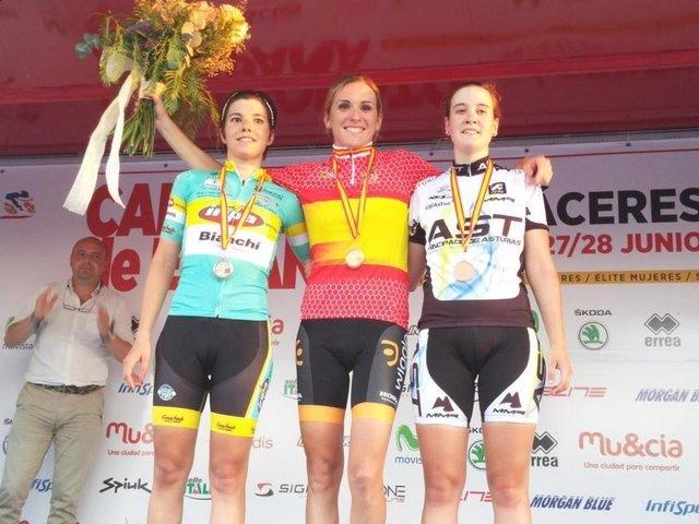 Anna Sanchis, campeona de España de ciclismo en ruta