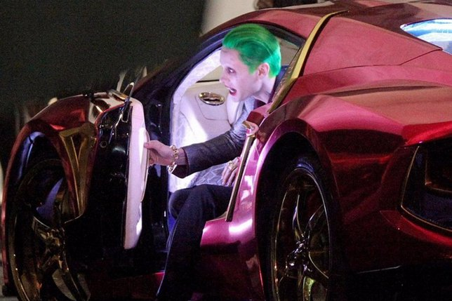 Jared Leto como Joker en el rodaje de Suicide Squad