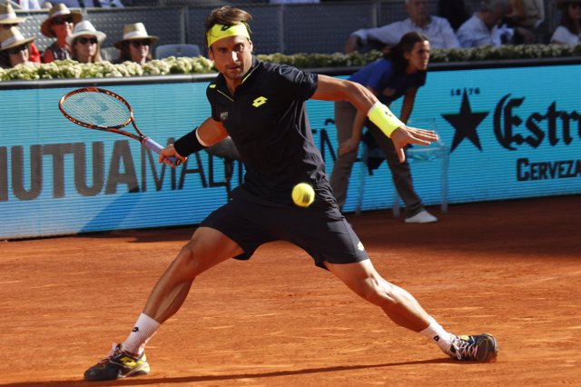 David Ferrer Durante El Mutua Madrid Open 2015