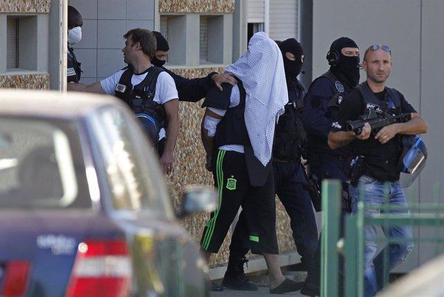 El supuesto atacante del atentado en Francia.