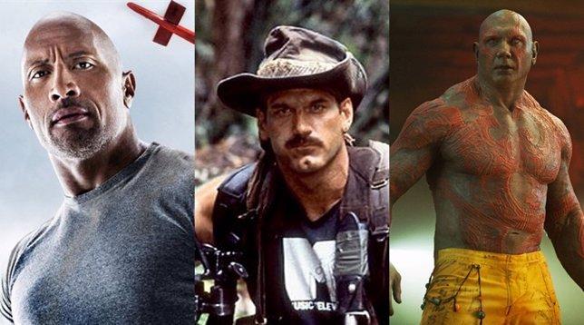 Dwayne Johnson, Jesse Ventura y Dave Bautista