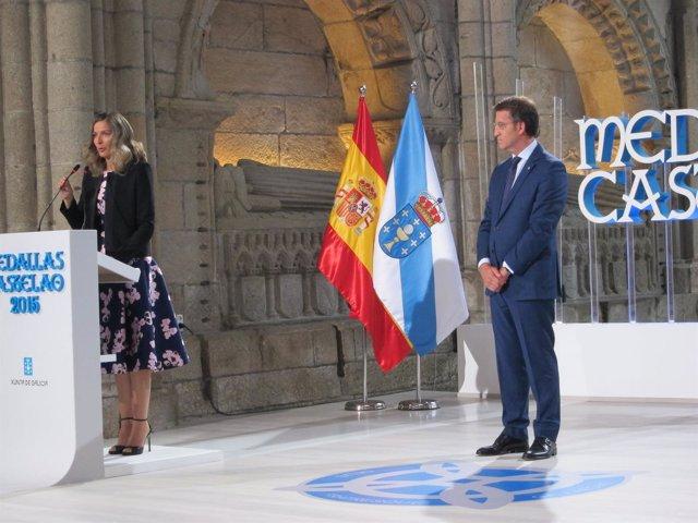 El presidente de la Xunta en la entrega de las Medallas Castelao