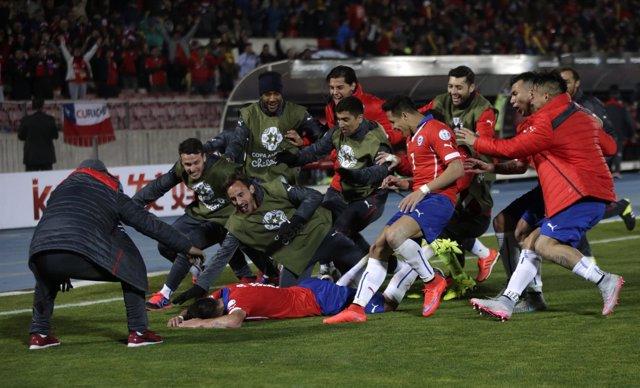 Chile celebra su pase a semifinales de la Copa América