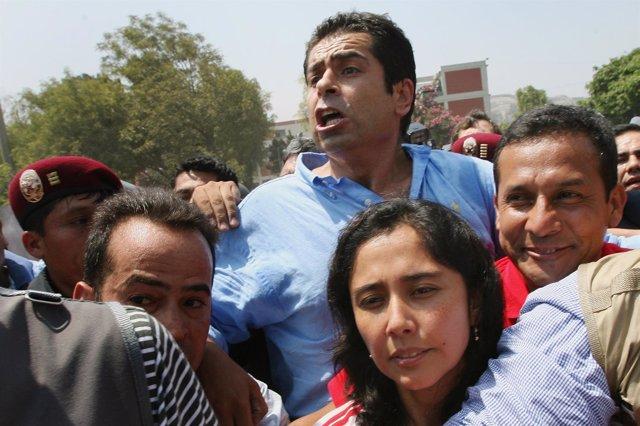 Martín Belaunde en la campaña de Ollante Humala en 2006