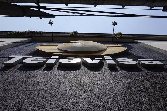 Logo de Televisa, en México DF