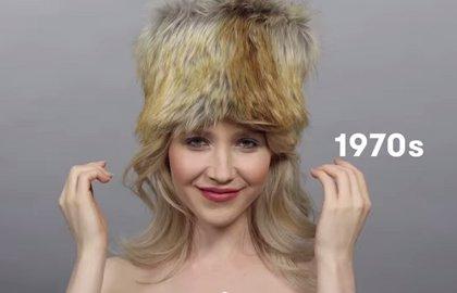 Esta modelo rusa encarna 100 años de la belleza de la mujer en su país