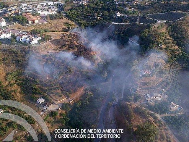Fuego incendio coín Málaga 30 de junio infoca