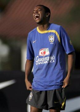 El delantero brasileño Robinho